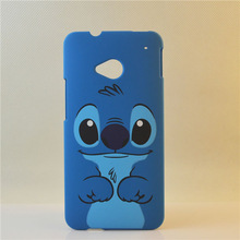 new arrival pc hard case cute vivid cartoon stitch case for htc one m7