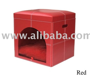 Faux Leather (PU, PVC) Or Genuine Leather dog house dog cage pet house
