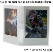 Clear modern design acrylic picture frame