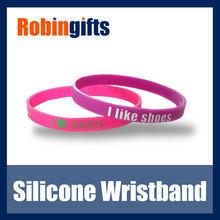 Custom silicone thin wristband