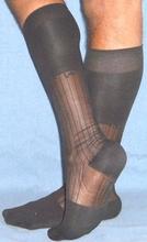 Sheer Nylon Thick N Thin Dress Socks TNT's OTC