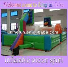 Multi use inflatable basketball&football field