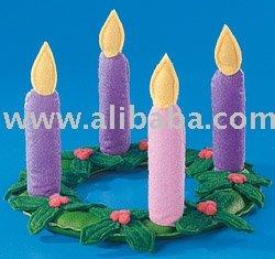 Plush Christmas Candle,promotional gift, toy, birthday