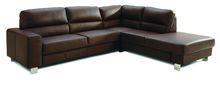 Cross Leather Corner Sofa