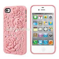 3D Sculpture Design Rose Flower Hard PC Case For iPhone 5