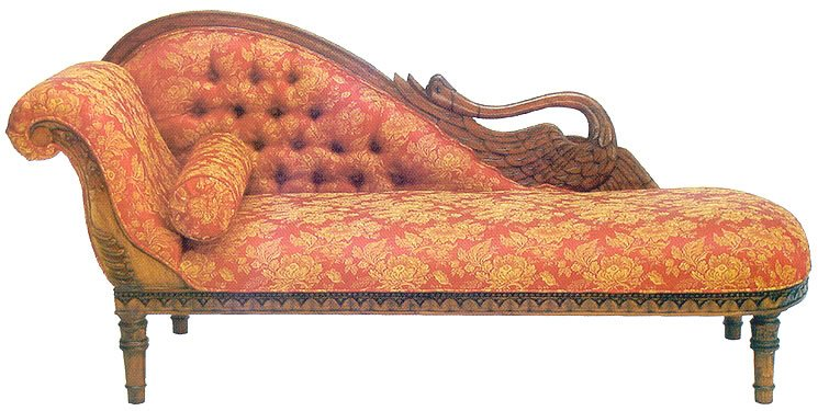 Lrl105 swan chaise lounge buy chaise lounge product on for Baroque chaise lounge sofa