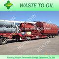 Densité 0.87 brut pyrolyse huile équipement / pneu de plantes