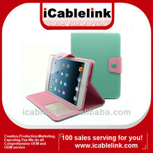 Hot Magnetic Folio PU Leather Smart Case Stand Cover for Apple iPad Mini lightseagreen