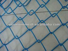 "2"" Mesh x 8 Gauge Vinyl Coated Permabond Chain Link Fence Fabric"