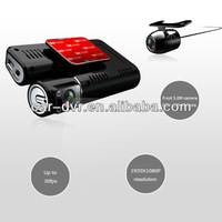 "3.0""Dual lens+GPS module car dvr driving recorder with night vision"