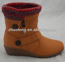 Moda oriente salto cunha tornozelo botas de inverno