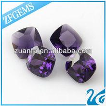 square purple synthetic cz zircon