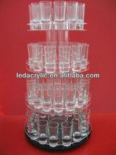 Acrylic rotating shot glass display stand