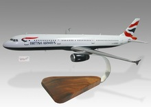 Airbus A321 British Airways Wood Desktop Airplane Model