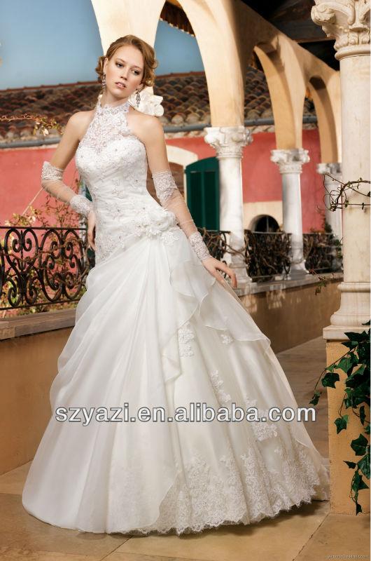 2014 Elegant Design Applique k319 Suzhou wedding dress