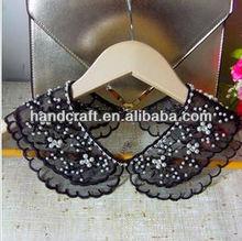 2013 new arrival koreanstyle sweet lace beaded rhinestone wavy edge lady fake collar N-018