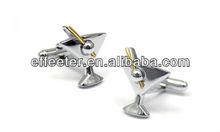 Novelty Stainless steel Men's cufflinks blanks
