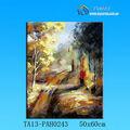 Venta caliente del paisaje pintura al óleo en el bosque 60*60