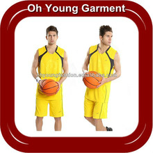 100% Polyester Dry Fit Wicking Short Sleeve V-neck Basketball Sport Wear/T Shirt