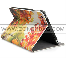 For digital printing leather case for ipad mini,for PU leather mini leather case with PC shell
