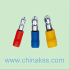 """Red 22-18awg 0.156"""" diameter bullet shaped insulating terminals"""