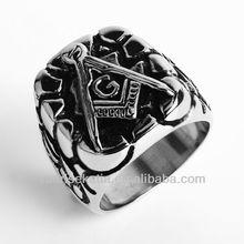 Mens Freemason Masonic Ring 316L Stainless Steel Jewelry