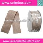 natural jute burlap wired ribbon