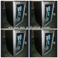 28 Bottles Glass Door Wine Cooler , Thermoelectric Red Wine Fridge