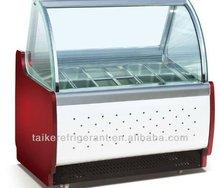 new type 16pans ice cream display case