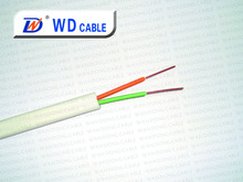 0.5mm BC/CCA 2 pair flat telephone cable/communication cable 24awg/26awg