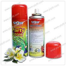 colorful decorative party streamer spray