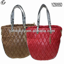Snake skin handle quilted barrel cheap handbags