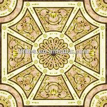 Infinitely extended design Porcelain InkJet Printing pink marble Polished Golden 120X120cm carpet tile