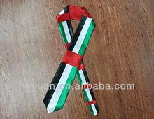 design customized football fans tie necktie