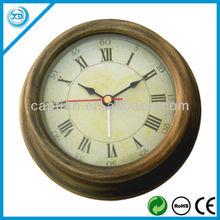 round wall brass clocks