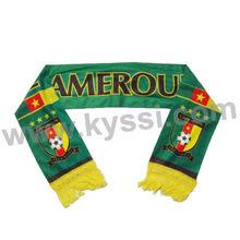 Federation Camerounaise de Football and Cameroon National Flag Printing Football Scarf