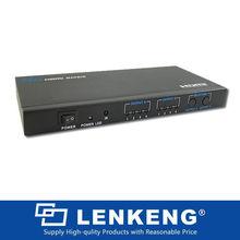 4 * 2 de matriz de puntos interruptor del divisor, R / L de AUDIO FR HDTV PS3 SKY HD