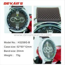 H3258G-B relojes wrist watch+watch caterpillar with fake 2 eyes