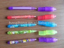 CH0813--Combo invisible UV light pen--well selled magic message pen , only read by the UV LED llight on pen top