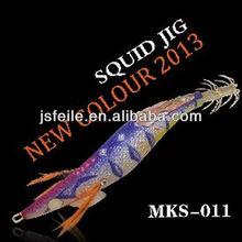 Moke nuevo color mínimo del estilo de japón del calamar plantilla fish y calamar