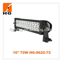"72W 4896lm HG-8622-72 16"" led light bar 4x4 offroad jeep motocycle"