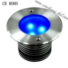 IP67 AC120/240V 3X1W High power LED inground light deep drop led fishing light
