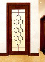 Modern Design MDF Wooden Door with Glass