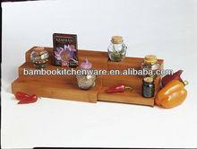 Bamboo Expandable Triple Step Spice Shelf