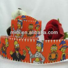 "7/8"" Halloween celebrate grosgrain printed ribbon"