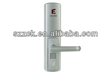 brand new designed silvery efficient password + fingerprint + mechanical key door lock