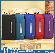 New arrival Luxury leather wallet case For Samsung Galaxy s4 mini