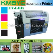 6 colors white ink print, UV-LED flatbed printer, ball point pen digital printer