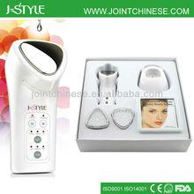 Skin rejuvenation Rechargeable IPL LED light photon galvanic microcurrent galvanic facial beauty tools