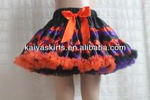 2013 Deluxe Orange Purple Black Chevron Pettiskirt Wholesale Halloween Pettiskirts for Holiday for Infant Toddler Girls